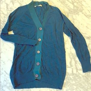 3.1 Philip Lim teal cardigan
